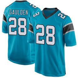 Game Rashaan Gaulden Men's Carolina Panthers Blue Alternate Jersey - Nike