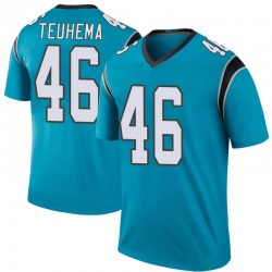Legend Sione Teuhema Men's Carolina Panthers Blue Color Rush Jersey - Nike